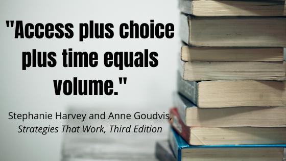 Access plus choice plus time equals volume._