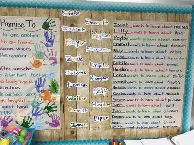 Student Goals Written by Teacher