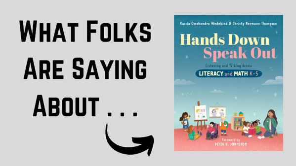 What Folks Are Saying About Hands Down Speak Out