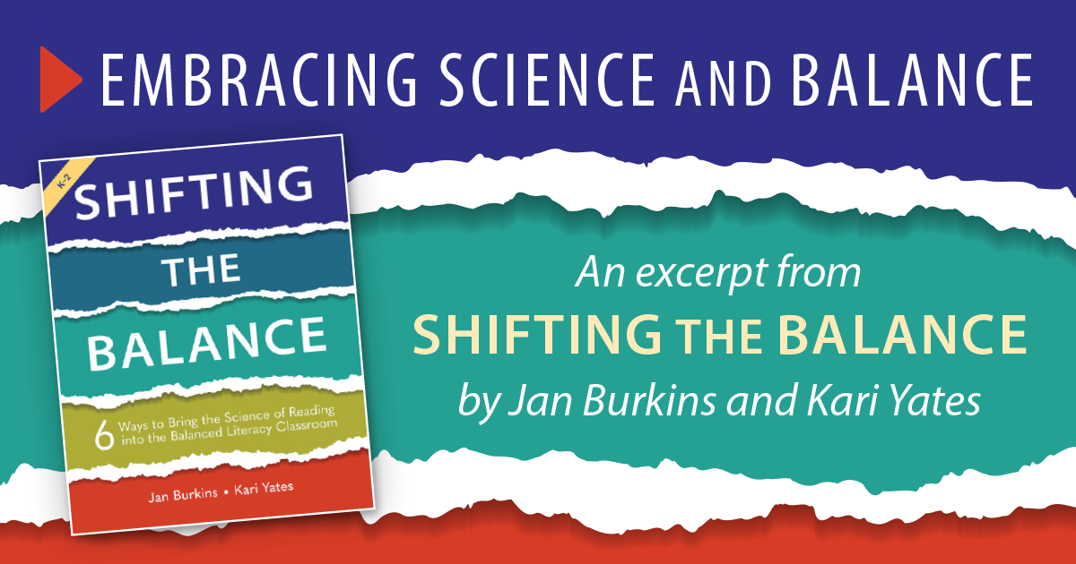 Embracing Science and Balance by Jan Burkins and Kari Yates
