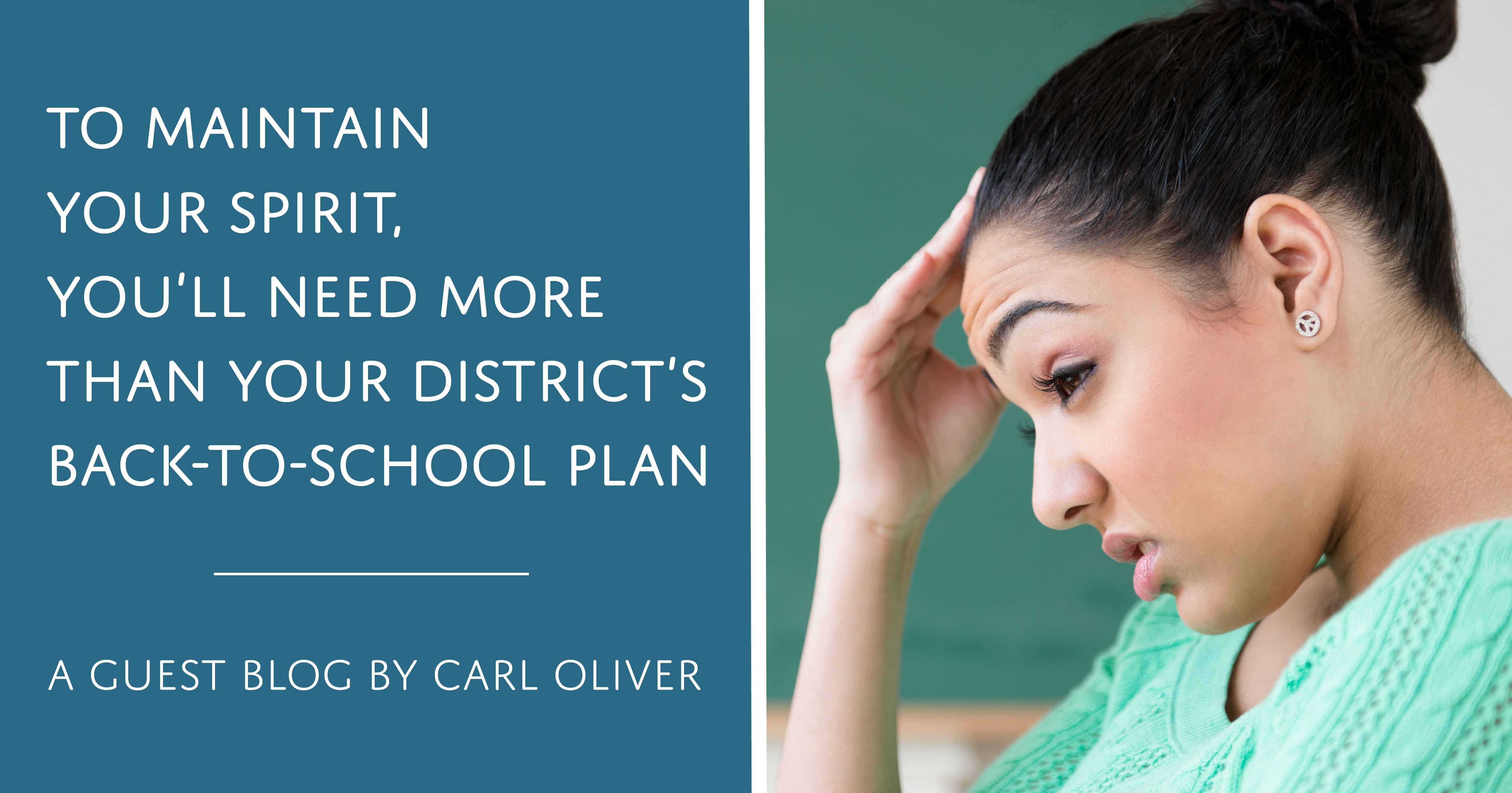 To Maintain Your Spirit, You'll Need More Than Your Back-to-School Plan