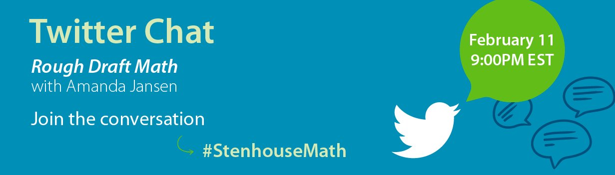 Get Ready for the #StenhouseMath Chat with Amanda Jansen