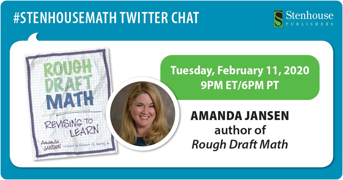 #StenhouseMath Twitter Chat with Amanda Jansen