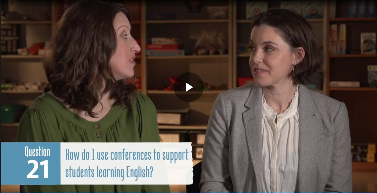 Using conferences to support students learning English