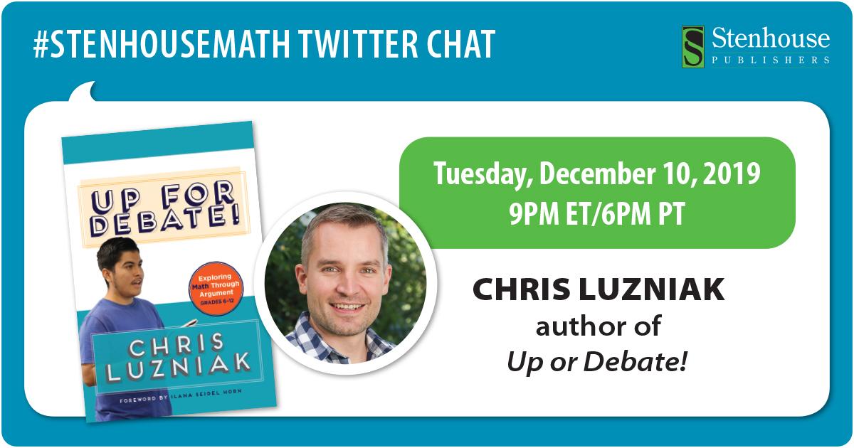 #StenhouseMath Chat Recap with Chris Luzniak